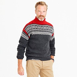 Lambswool Nordic turtleneck sweater
