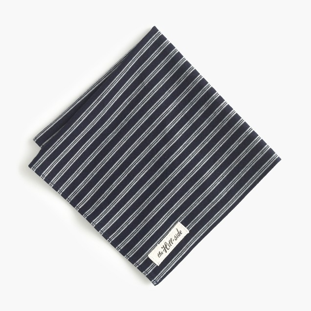 The Hill-side® selvedge twill pocket square in stripe