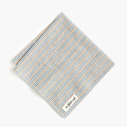 The Hill-side® selvedge pocket square in stripe