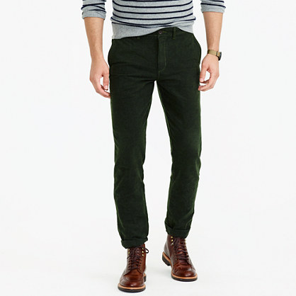 Brushed cotton twill pant in 770 straight fit