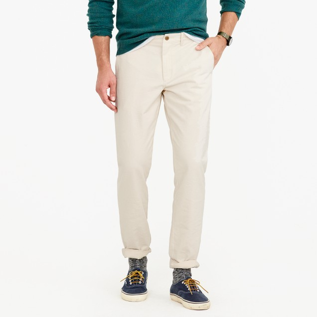 Seeded cotton twill pant in 770 straight fit
