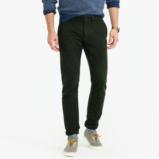 Brushed cotton twill pant in 484 slim fit