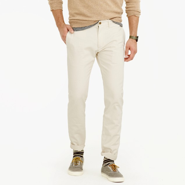 Seeded cotton twill pant in 484 fit