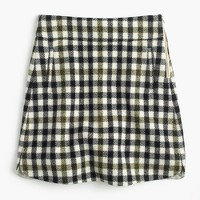 Petite mini skirt in oxford check