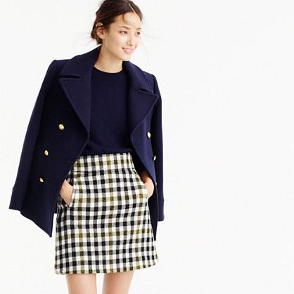 Mini skirt in oxford check