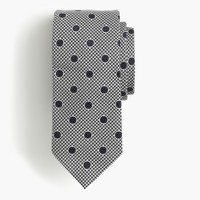 Drake's® silk tie in dotted houndstooth