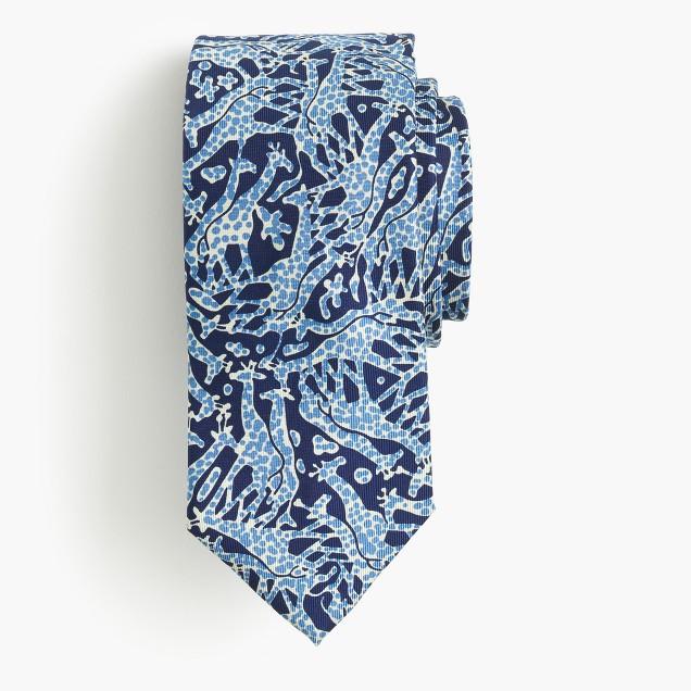 Drake's® silk tie in giraffe print