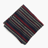 Kiriko™ pocket square in dark navy stripe