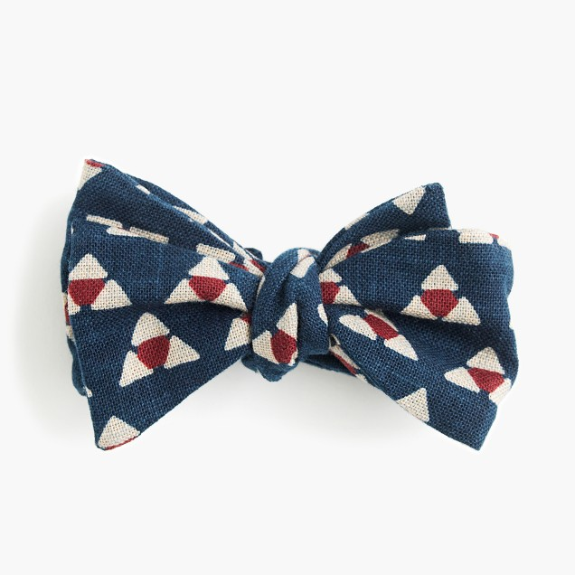 Kiriko™ bow tie in navy print