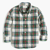 Kids' lightweight flannel shirt in festive plaid