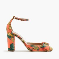 Collection Lena ankle-strap pumps in Ratti® fruity floral print