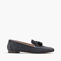 Charlie loafers in wool flannel