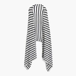 Striped Italian cashmere wrap