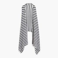Striped Italian cashmere wrap