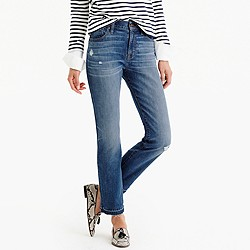 Petite vintage crop jean in Rhodes wash