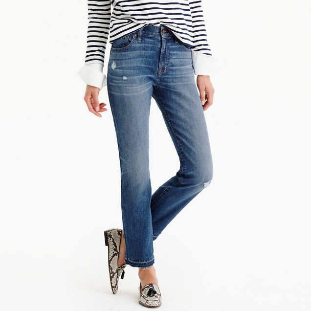 Tall vintage crop jean in Rhodes wash