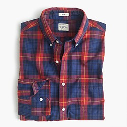 Slim Secret Wash shirt in blue-and-red plaid
