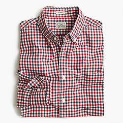 Tall Secret Wash shirt in red and blue check