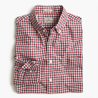 Secret Wash shirt in red and blue check