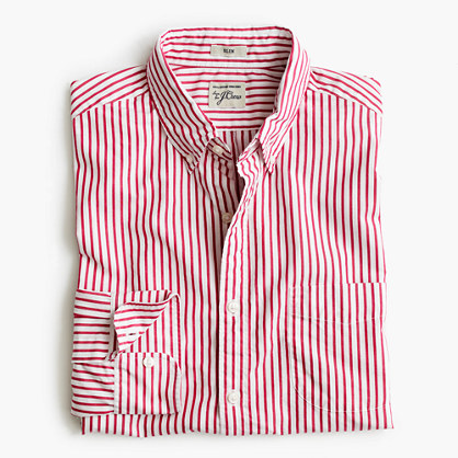 Slim Secret Wash shirt in large stripe