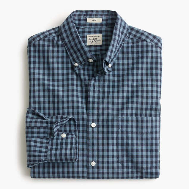 Slim Secret Wash shirt in devon check