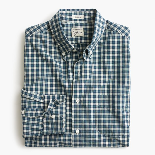 Tall Secret Wash shirt in hedley check