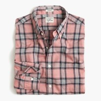 Secret Wash shirt in pale red heather poplin plaid