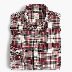 Vintage oxford shirt in Stewart tartan