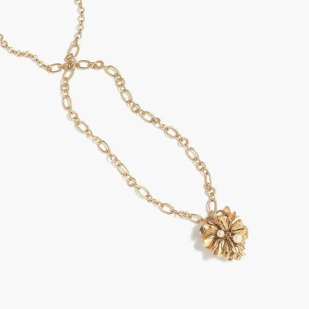 Floral drop pendant