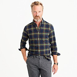 Vintage oxford shirt in navy ink plaid
