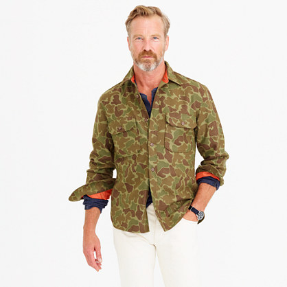Wallace & Barnes wool camo shirt-jacket