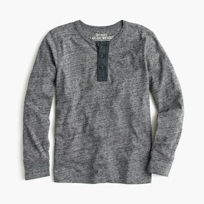 Boys' long-sleeve vintage heather henley T-shirt