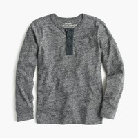 Boys' long-sleeve vintage heather henley T-shirt