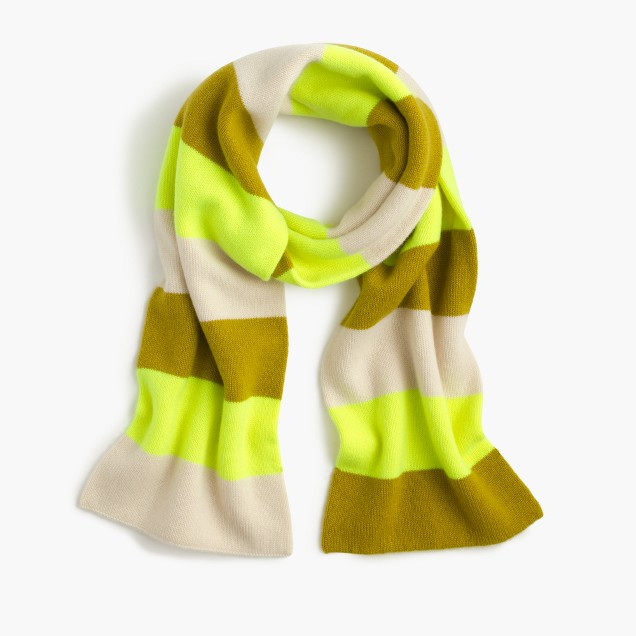 Striped cashmere scarf