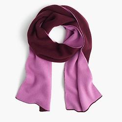 Colorblock cashmere scarf