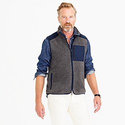Grizzly fleece vest