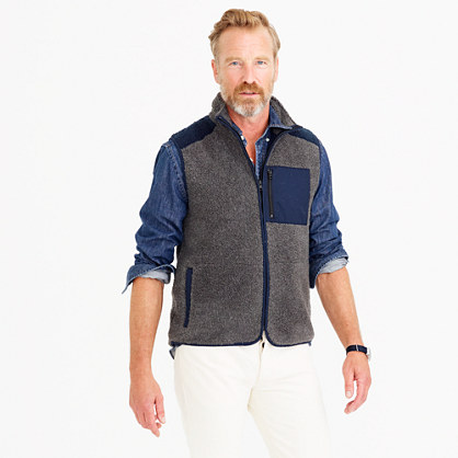 Grizzly fleece vest