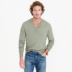 Double-knit henley
