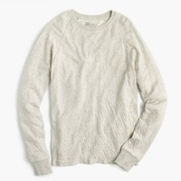 Double-knit crewneck shirt