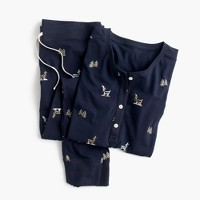 Reindeer knit pajama set