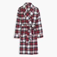 Festive plaid flannel robe