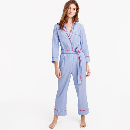 Tipped pajama jumpsuit