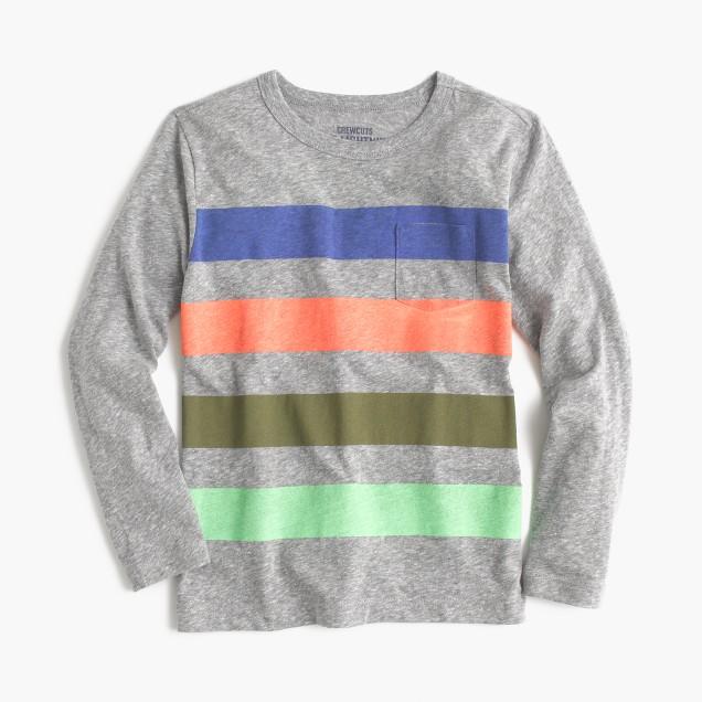 Boys 39 Long Sleeve Striped Pocket T Shirt Boys 39 Novelty