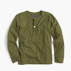 Boys' long-sleeve vintage henley T-shirt