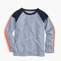 Boys' long-sleeve striped pieced T-shirt