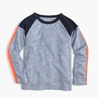Boys' long-sleeve striped pieced T-shirt