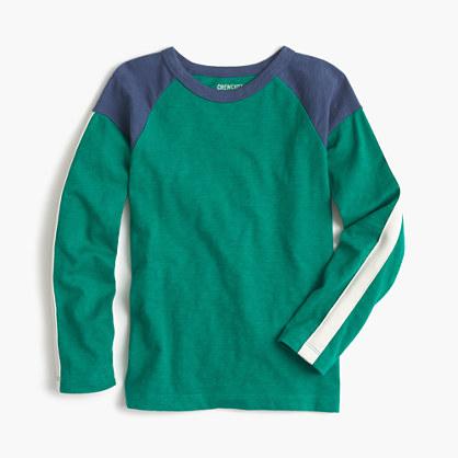 Boys' long-sleeve colorblocked T-shirt