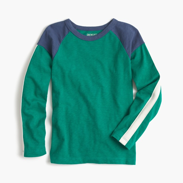 Boys' long-sleeve colorblocked T-shirt