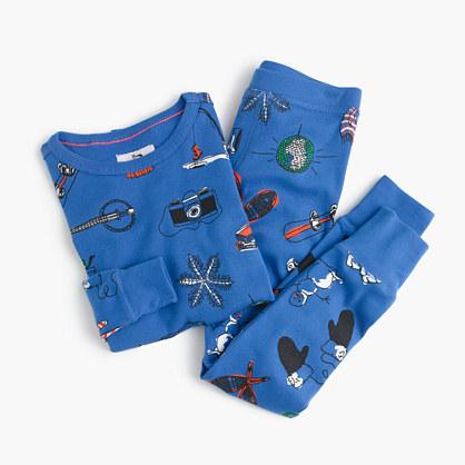 Boys' pajama set in winter wonderland