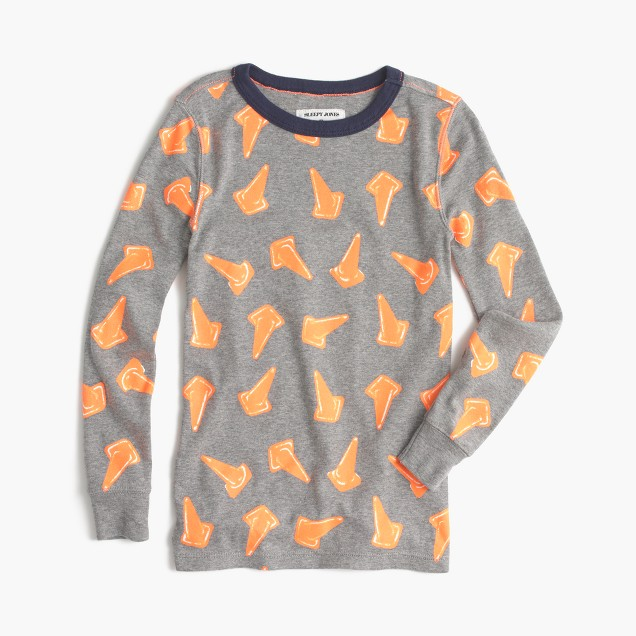 Kids' Sleepy Jones® for crewcuts pajama set in safety cones